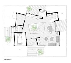 Image 14 of 24 from gallery of Prototype House in Japan / Javier Mariscal + Lara Pérez-Porro + Tatsumi Planning. Photograph by Tatsumi Planning Co. Modern House Plans, Small House Plans, House Floor Plans, The Plan, How To Plan, Architecture Concept Diagram, Japan Architecture, Architecture Design, Looking For Apartments