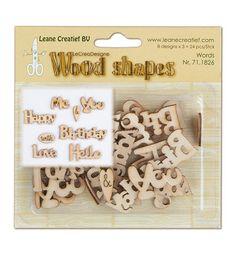 24 Holzornamente, Wood Shapes, Words von Zeit für Kreatives auf DaWanda.com