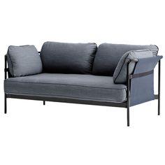 Can sohva 2-istuttava, musta-sininen runko, Surface 990
