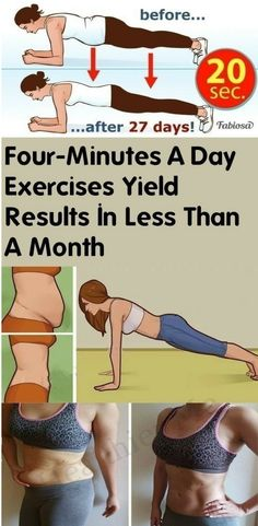Four-Minutes-a-Day Exercises Yield Results In Less Than a Month - Healthier Me