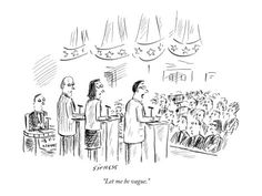 """""""Let me be vague."""" Politician answers questions at a debate. Published in The New Yorker December 1, 2003."""