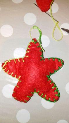 #fieltro #estrellas #stars #xmassdecoration #diy #christmas #handmade #xmasstree