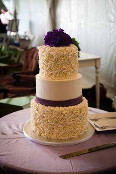 Rosette Texture Buttercream Cake