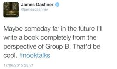 JAMES DON'T SAY SOMETHING LIKE THAT. YOU'RE GIVING US HOPE. WE DON'T LIKE HOPE.