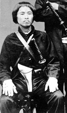 Samurai from the Satsuma clan, Boshin war era, late 1800s.