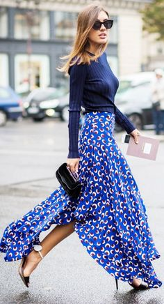 Bute Print Maxi Skirt Fall Inspo by The Girl From Panama
