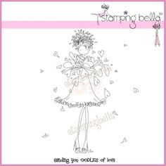 stamping bella uptown girls | Stamping Bella Rubber Stamp - Uptown Girl Lucille Sends Her Love ...
