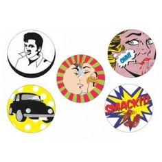 Imã Pop Art Variado - Kit com 5