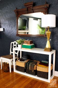 We love how @Mandy Pellegrin styled her @Home Decorators Collection Parsons console for @Home Depot 's Style Challenge.