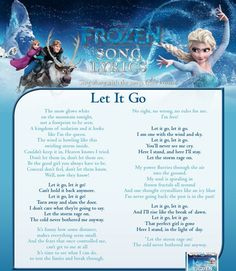 "Lyrics to "" Let It Go """
