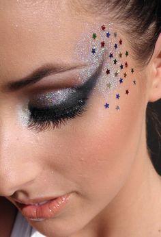 maquiagem+carnaval+festa+baile+lantejoulas.JPG (1089×1600)
