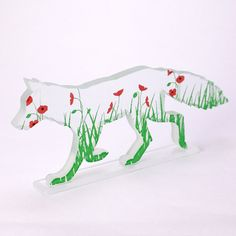 Loving this whole series!! Poppy Fox Glass Sculpture by flyingcheesetoastie on Etsy,