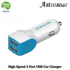ASTROSOAR High Speed 2 Port USB 2.0 Car Charger Adaptor