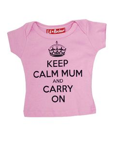 """Darkside """"Keep Calm Mum and Carry On"""" Pink T-Shirt from Just a Touch of Everything"""