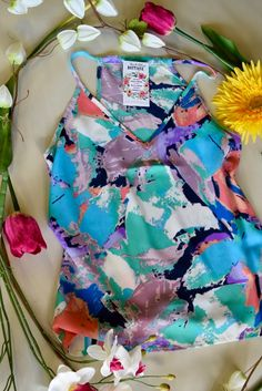Abstract Floral Cami Top