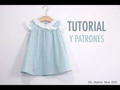 30 Super Ideas For Dress Pattern Free Girls Tutorials Baby Girl Frocks, Frocks For Girls, Little Dresses, Little Girl Dresses, Baby Dresses, Dress Girl, Sewing Baby Clothes, Baby Sewing, Baby Girl Dress Patterns