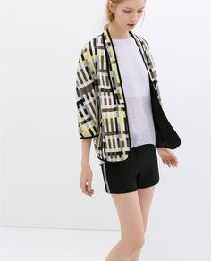 zara kimono blazer oversize texturé Taille M #Cardigans