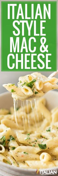 Super Simple Mac and Cheese Italian Style Is A Go To Recipe Around Here. With Just 7 Ingredients And 15 Minutes You Can Have This Fantastic Dinner On The Table. It Is The Ultimate Leftover And Weeknight Dinner Helper. Mac Cheese Recipes, Pasta Recipes, Dinner Recipes, Cooking Recipes, Italian Dishes, Italian Recipes, New Recipes, Favorite Recipes, Italian Pasta