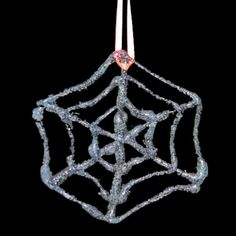 In this tutorial I'll show you how to make some easy, glittered spider webs for Halloween. Star Of Bethlehem, Spider Webs, Halloween Spider, Glitter, Autumn, Christmas Ornaments, Holiday Decor, Diy, Crafts