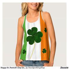 Happy St. Patrick's Day Irish Flag Shamrock Paddy Tank Top #JustSold  #ThankYou  :)