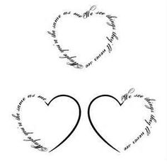 """Possible tat for Bree, either a simple heart or like these with """"Bree"""" or one of her many names I call her written into the side. Either way the heart(s) will be placed on my right upper back over/around where I have nail marks from her loving me holding her over my shoulder like a baby. That's where my heart is.....and that will always be Bree's spot, and how I will remember us."""