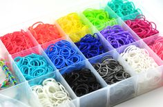 Rainbow Loom Bands  3000 Bands and Plastic Case  90 by FraSizzle, $34.99