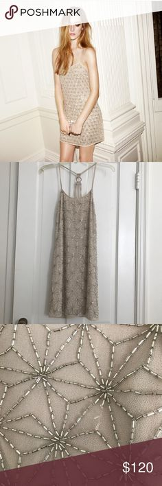 Topshop limited edition embellish dress Super chic and cute. Has some damaging as seen in pics, but that is expected with beaded dresses. Size small/medium. Topshop Dresses Mini