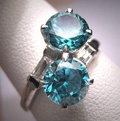 Antique Blue Zircon Wedding Ring Vintage Art by AawsombleiJewelry Antique Wedding Rings, Antique Engagement Rings, Antique Rings, Vintage Rings, Antique Jewelry, Vintage Jewelry, Vintage Art, Garnet Jewelry, Crystal Jewelry