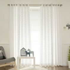 Keep it minimalist and keep it marvelous with the Best Home Fashion Nordic Check Mix & Match Curtain Panels - Set of 4 . You'll get four curtain. Drapes And Blinds, Sheer Curtain Panels, Grommet Curtains, Drapes Curtains, Traditional Curtains, Contemporary Curtains, Plaid Curtains, Nursery Curtains, Farmhouse Curtains