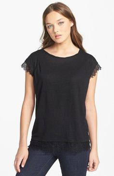 MARC BY MARC JACOBS 'Carmen' Jersey & Lace Tee | Nordstrom