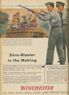 Winchester shotgun ad during WWII.