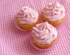 Pink Lemonade Cupcakes with doctored cake mix - mom made these for a church get together and called to say they were a big hit!