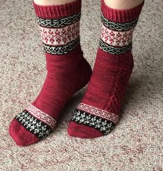 Ravelry: Soupnwool's Amy's Christmas Socks