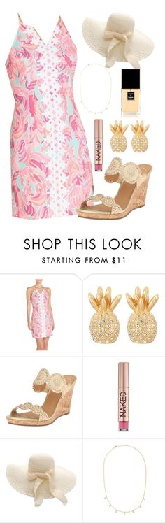 """""""ShoppingDay or DerbyDay Outfit? Comment your choice and I'll take a poll!"""" by preppy-southern-girl88 ❤ liked on Polyvore featuring Lilly Pulitzer, Jack Rogers, Urban Decay, Anine Bing and Chanel"""