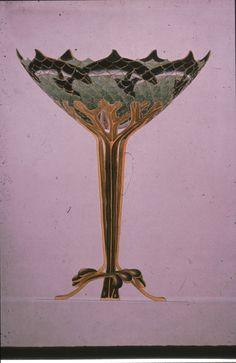 Gustav Gaudernack design of silver gilt decorative vase with plique-a-jour enamel. 1908-1910