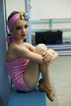 A gorgeous pic of maddie ziegler wearing the pin up girls costume!
