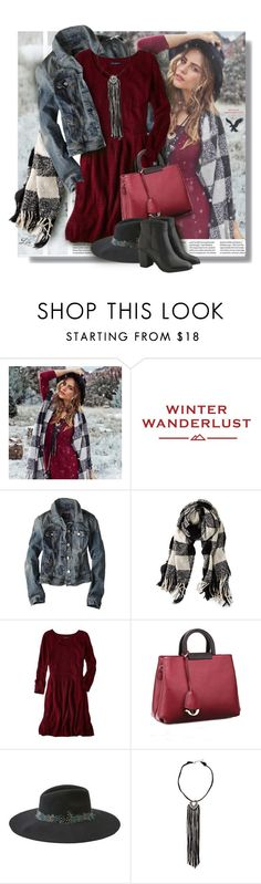 """Winter Wanderlust with American Eagle: Contest Entry"" by fashion-architect-style ❤ liked on Polyvore featuring American Eagle Outfitters, Relaxfeel and aeostyle"