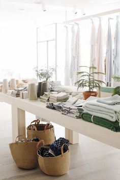 Sustainable design products using natural materials, linen and wool. Us Store, Summer Is Here, Sustainable Design, Helsinki, Brick Wall, Cosy, Summertime, Instagram Summer, Pure Products