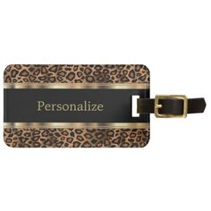 Clouded Leopard Round Luggage ID Tag Card Suitcase Carry-On