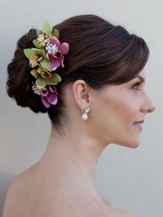 hair flowers | Home Hair Accessories Hair Flowers Tropical Orchid Hair Flower ...