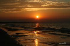 Poland, Swinoujscie, sky, red sky, sea, landscape, sunset, beach