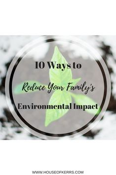 10 Ways to Reduce Your Family's Environmental Impact
