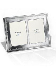 "Vera Wang Wedgwood Grosgrain Double Invitation Frame, 5"" x 7"" - - Macy's Bridal and Wedding Registry"