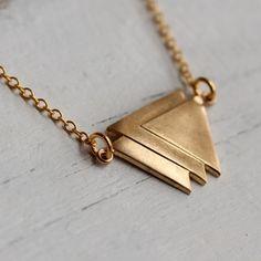 Geometric Triangle Necklace