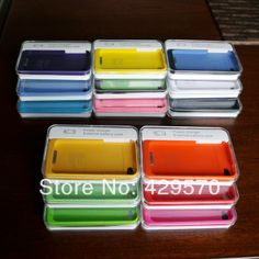free shipping &drop shipping! 1900mAh External Rechargeable Backup Battery Charger Case for iphone 4s 4g(10pcs) $97.00