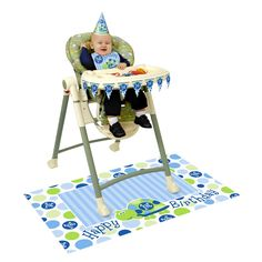 First Birthday Turtle High Chair Decorating Kit (Each)