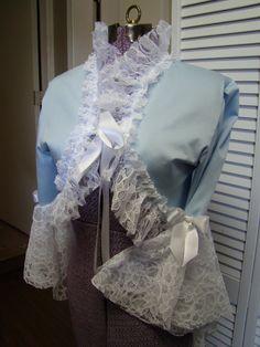 Alice in Wonderland shrug jacket with lace steampunk. , via Etsy.