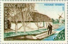 1965: Vendée landscape (צרפת) (Tourism) Yt:FR 1439,Mi:FR 1518,Sn:FR 1129,AFA:FR 1543