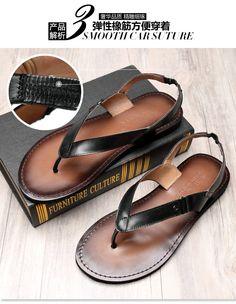 Aliexpress.com: Comprar Sandalias de gladiador de cuero calzado casual hombres  hombres de pisos
