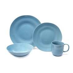 Toscano Blue Ceramic 16-piece Dinnerware Set